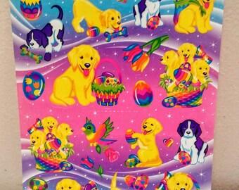 Lisa Frank sticker sheet Lisa Frank Easter puppies