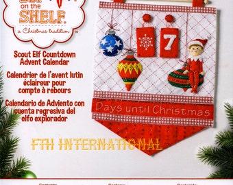 Bucilla Elf On The Shelf ~ Felt Christmas Countdown Advent Calendar Kit #86551 DIY