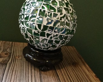 Green irridescent Glass Ornament
