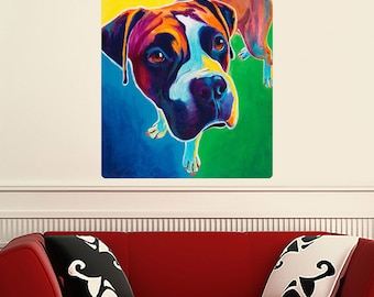 Leo Boxer Dog Wall Decal - #59959