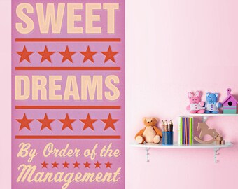 Sweet Dreams Pink Management Wall Decal - #64614