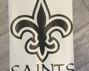 New Orlean Saints Large Vinyl Decal Football Sticker Logo
