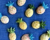 pineapple ceramic magnet