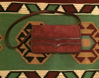 Vintage burgundy leather purse