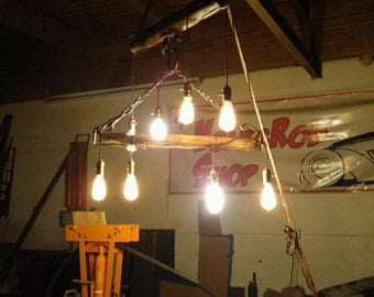 8 Edison bulb chandelier