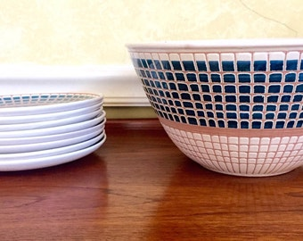 Elle Norway bowl and plates (8) stunning midcentury modern collection/Scandinavian modern