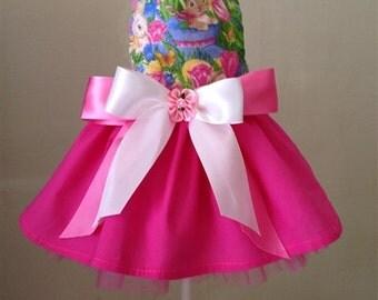 Easter Garden Bunnies Dog Dress