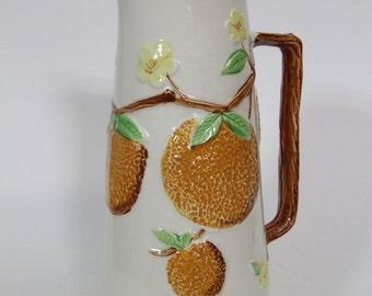 Vintage Napcoware Orange Motif Juice Pitcher, Vintage Kitchenware