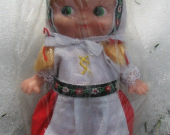 Vintage Doll - German Folk Doll -