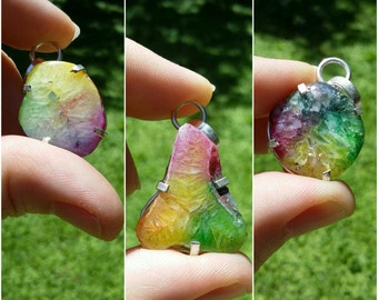On sale. Rainbow solar quartz, silver pendant necklace, 3 styles to choose from.