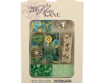 Embellishment Kit - New Leaf 28 Lilac Lane by May Flaum LL107