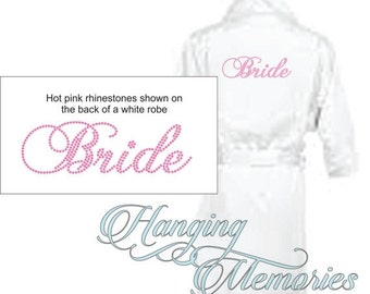 2 day sale Bride robe, bridal robe, bridal robes, bridal gift, satin robe, satin bridesmaid, bridesmaid gifts, personalized bridal robe, pin