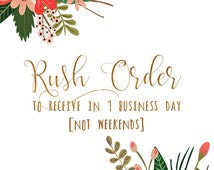 Upgrade to RUSH order, to receive your first proof within 1 BUSINESS day of purchase (not weekends), digital file only, you print