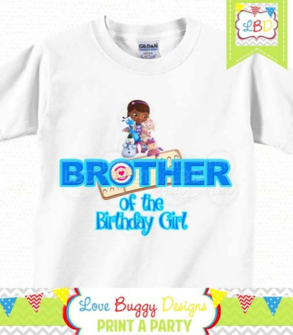 Doc mcstuffins birthday shirt brother of the birthday girl for Doc mcstuffins birthday girl shirt