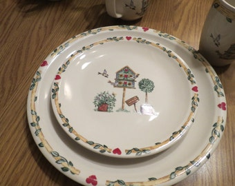 Thomson Pottery Birdhouse Salad Plates