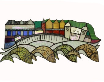 Penarth Sea Front Stained Glass Wall Panel