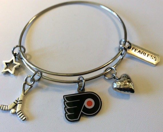 flyers bracelet handcrafted philadelphia flyers charmed bracelet by 3160