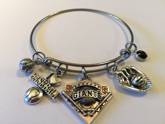 Handcrafted mlb san francisco giants charm stainless steel for San francisco handmade jewelry