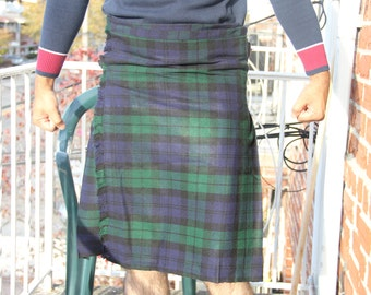Black Watch 8 Yard 16oz Traditional Mens Scottish Tartan Highland Kilt