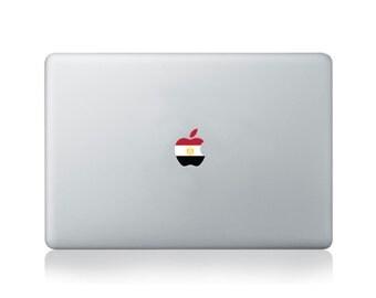 Apple Flag of Egypt Vinyl Sticker for Macbook (13/15) or Laptop