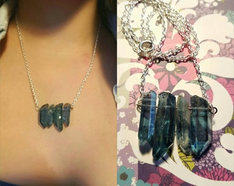 Crystal Necklace: Blue or Yellow