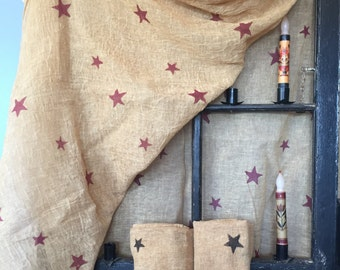 Tobacco Cloth with Red or Black Stars