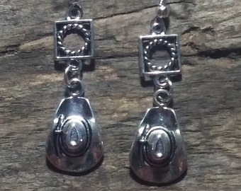 FREE SHIPPING! Cowgirl Cowboy Hat Earrings