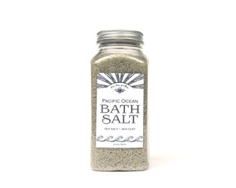 Pacific Ocean Bath Salt Soak 10oz - Sea Salt - Sea Clay - Essential Oil - Detoxing Aromatherapy Bath