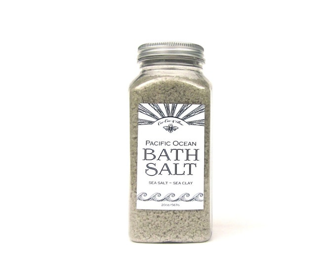Pacific Ocean Bath Salt Soak 22oz - Sea Salt - Sea Clay - Essential Oil - Detoxing Aromatherapy Bath