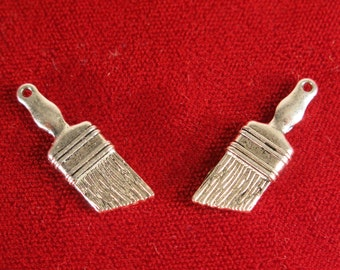 "BULK! 30pc ""paint brush"" charm silver plated (BC1083B)"