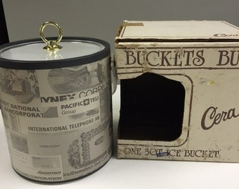 Vintage Stock Market Ice Bucket