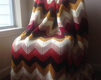 Full/Queen Sized Chevron Blanket