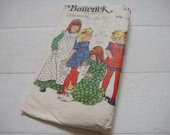 "Butterick Pinafore Dress Pattern 5171, Breast 25""- Circa 1970"