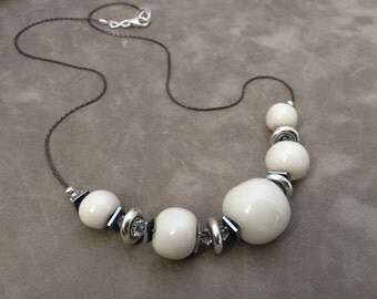 White Bead Necklace