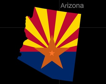 Arizona American State Flag Pride Decal Sticker