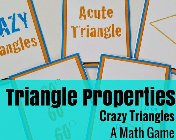 Crazy Triangles: A Math Game of Triangle Skills, Information, & Vocabulary