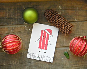 Crossfit/Fitness/Bacon Christmas Card
