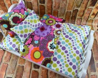 "Doll Bedding 3PC set | American Girl Doll Bedding | 18 in Doll Bedding Set | 18"" Doll Bedding | Custom Doll Bedding | 18 inch Doll Bedding"