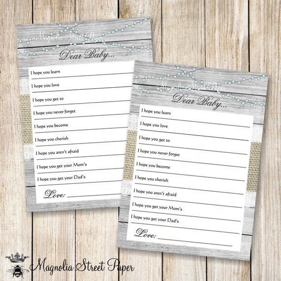 Baby Well Wishes Rustic Well Wishes For The Baby Printable Baby