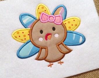 Turkey Applique - Thanksgiving Applique - Holiday Applique - Applique Design - Embroidery Design -