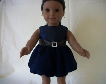 American Girl Doll Navy Taffeta/Chiffon Party Dress - AG Doll Dress - AG Doll Clothes - Free Shippin