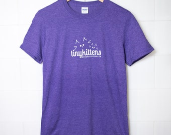 3XL - UNISEX - Purple - Official TinyKittens T-Shirt - 100% of proceeds support animal rescue!