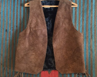 Shearling Lined Suede Vest