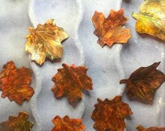 Sugar Leaves ~ Fall Leaves ~ Dozen ~ Gum Paste Flowers ~ Edible cake topper