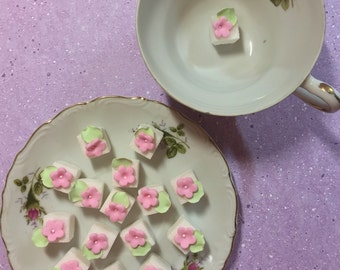 Tiny decorated Sugar Cubes for Tea parties, Weddings & More!