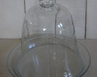 Large Vintage Glass Cloche Dome