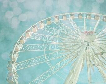 Dreamy Ferris Wheel Art, Orange County, Fair, California, Carnival Art Print, Summer Art, Carnival Ride, Landscape, Photography