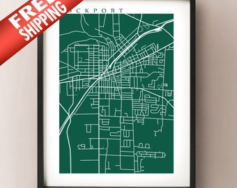 Lockport Map Print - New York Poster