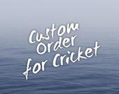 Custom order for Cricket