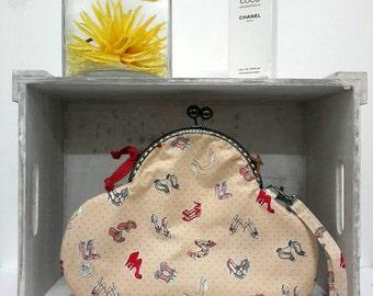 Fold Down Clutch Bag in a  shoes print design - Envelope Clutch Bag - Evening Clutch Bag - Wedding Clutch Bag-